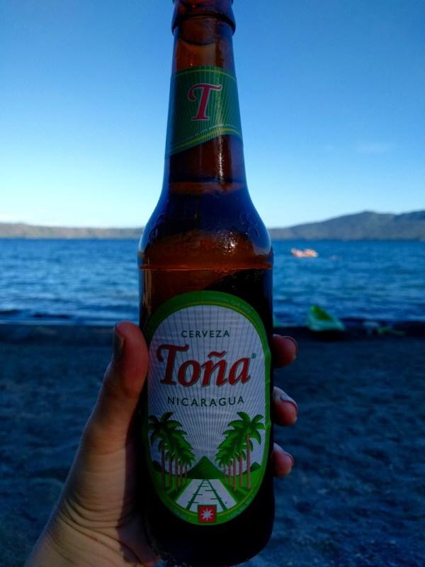 Local Beer Toña Laguna de Apoyo Nicaragua