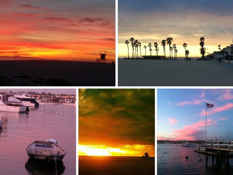 Sunset Newport Beach California
