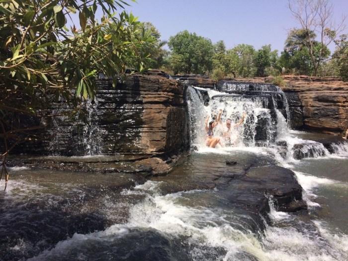 Backpacking Burkina Faso Waterfall