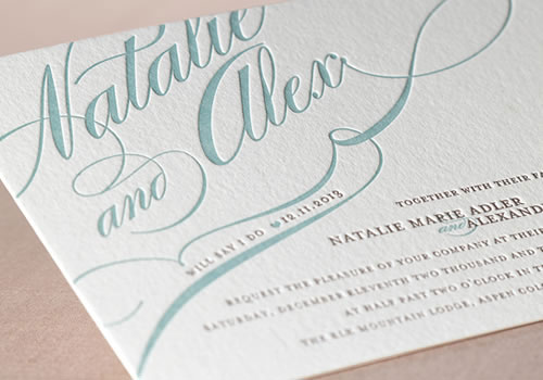 Wedding Invites Letterpress: Minted Letterpress Wedding Invitations