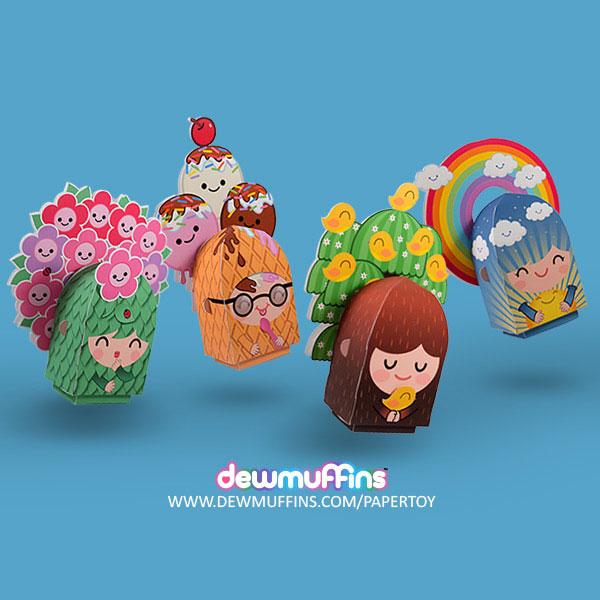 Terralings Free Printable Paper Toys   Dewmuffins