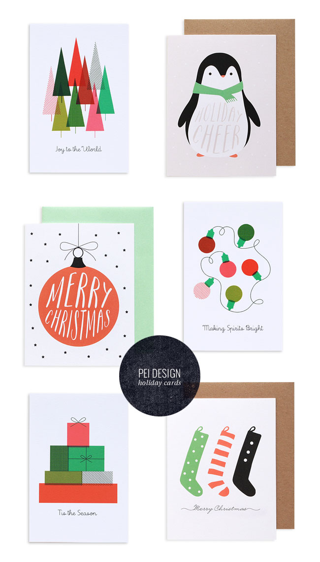 colorful modern holiday cardspei design