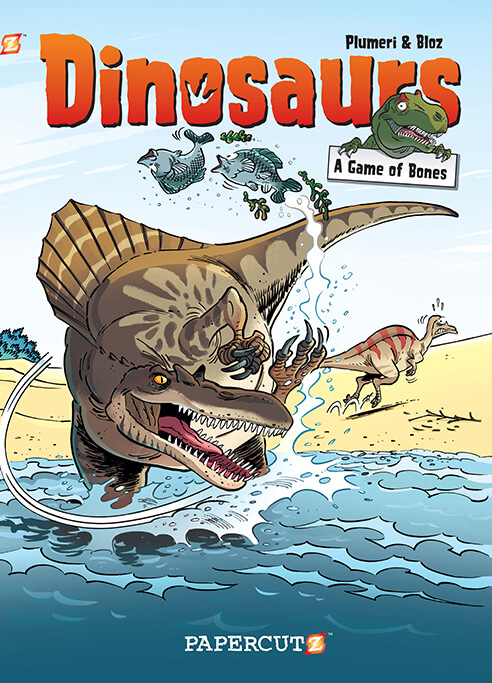 Book Cover Graphism Game : Dinosaurs vol papercutz the kids graphic novel publisher