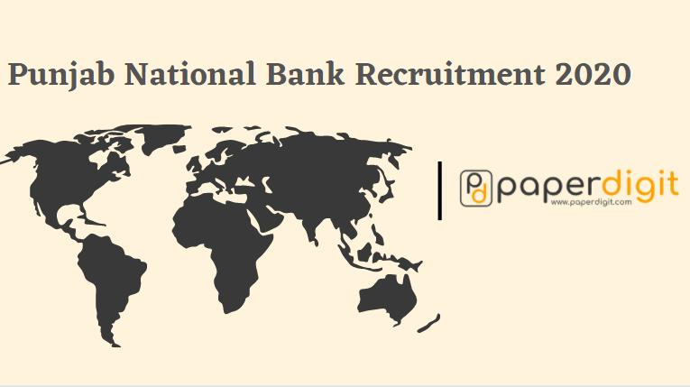 Punjab National Bank Recruitment 2020, bank jobs, sarkari naukri