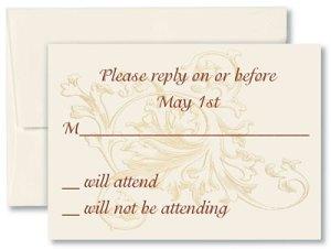 Wedding Calligraphy Set Invitation Response Card Return Envelope