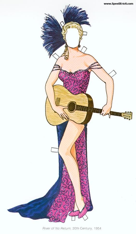 Marilyn Monroe  Paper dolls and other paper toys