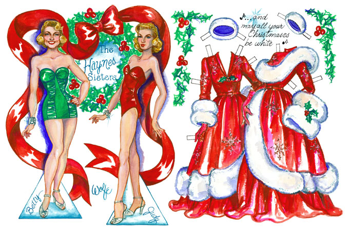 White Christmas 2003 Paperdollywood Paper Dolls By David