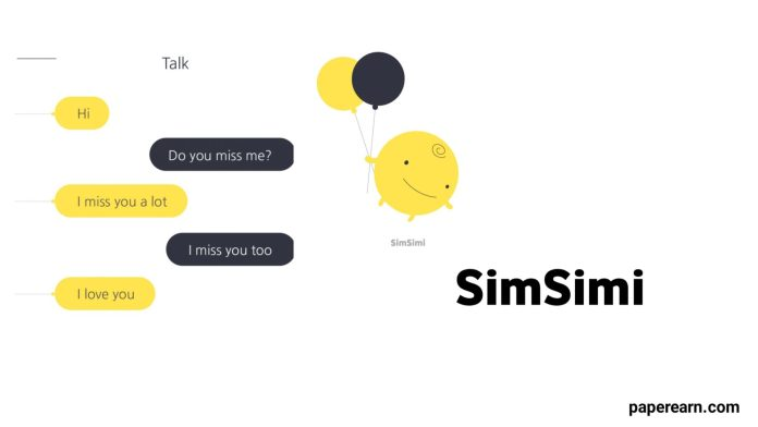 Talk with SimSimi Anytime