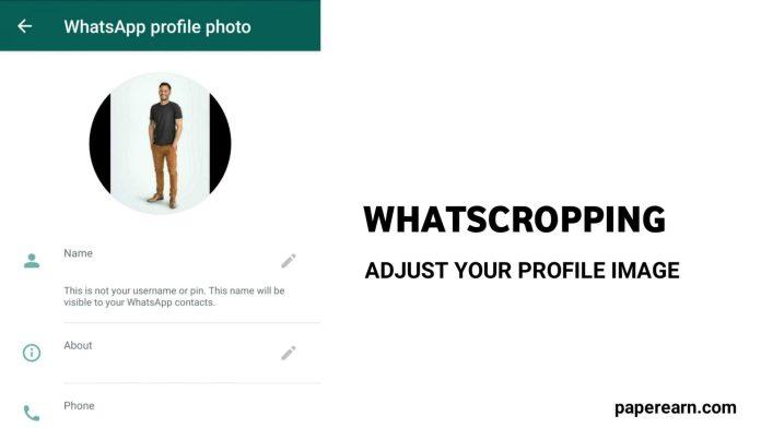 WhatsApp Cropping