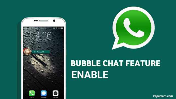 How to enable bubble chat feature