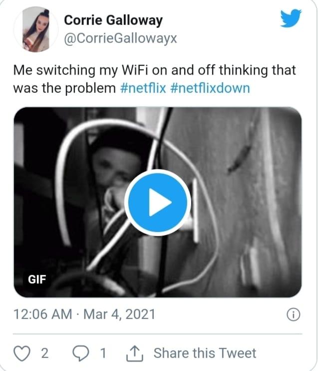 Netflix Crashes across the World.