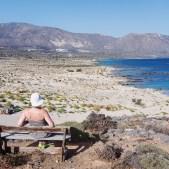 Laguna di Elafonissi dall'alto dell'Isola