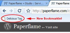 Chrome Delicious Bookmarklet