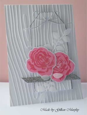AN pink roses white woodgrain card 1