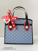 kensington bag blue dotty