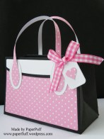 kensington bag pink dotty side view