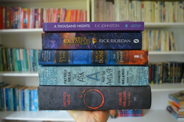 book stack - august 1
