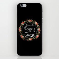 i-am-the-blogging-queen-phone-skins