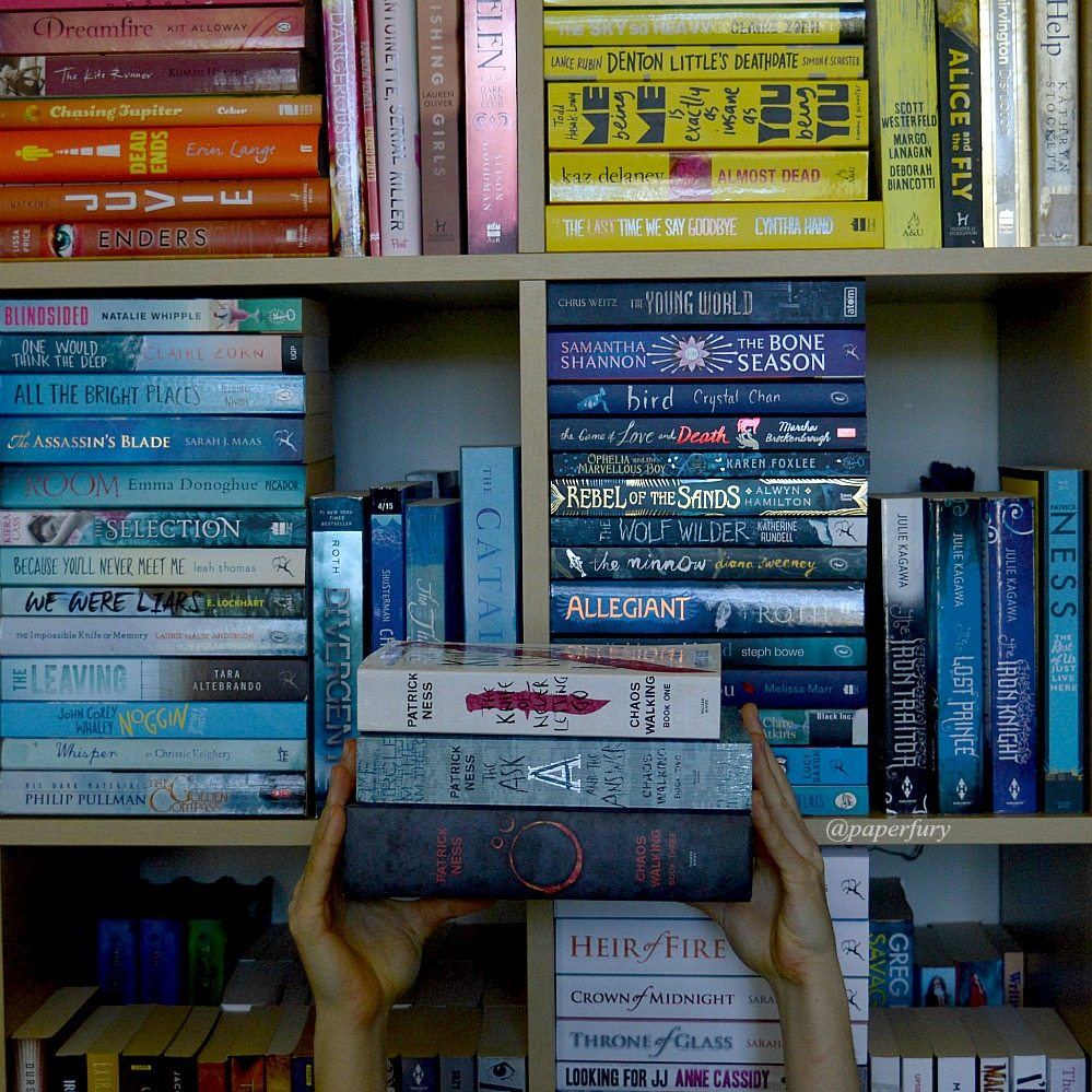 the knife of never letting go chaos walking shelfie + shelfie