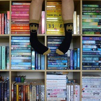 me + shelfie + batman socks
