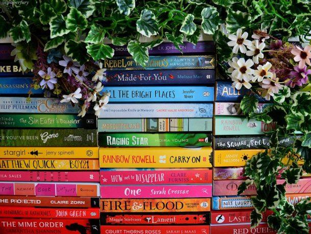 rainbow-books-vines-flowers