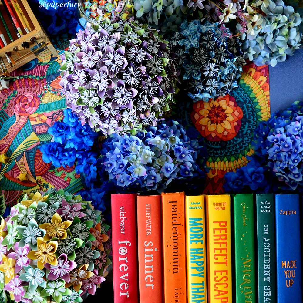 rainbow books + globes