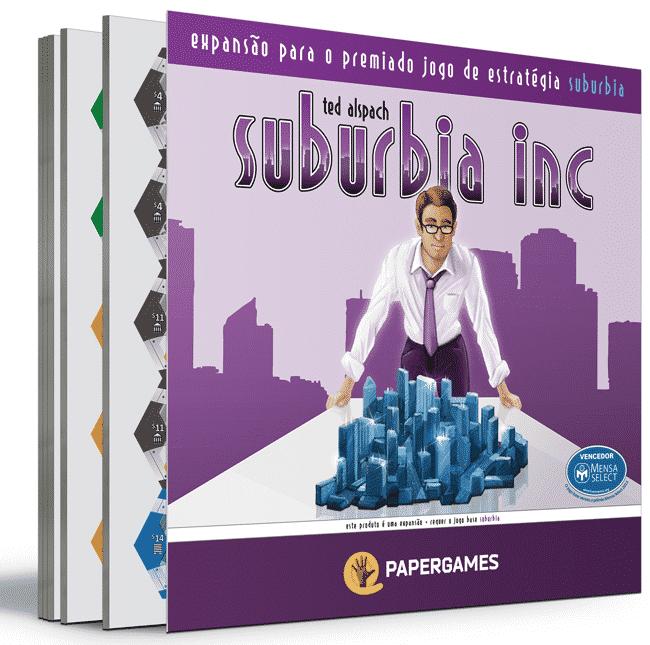 caixa do jogo Suburbia Inc