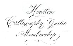Calligraphy by Terry Hausner