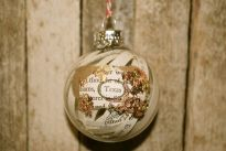 Custom City/Region/Christmas Altered Book Ornament, Ink with Copper and Gold Leaf Mix, $18