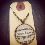 Great Lakes Book Necklace, $29