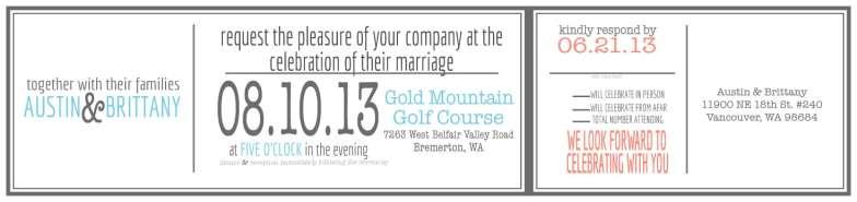 Tea Length Wedding Invite