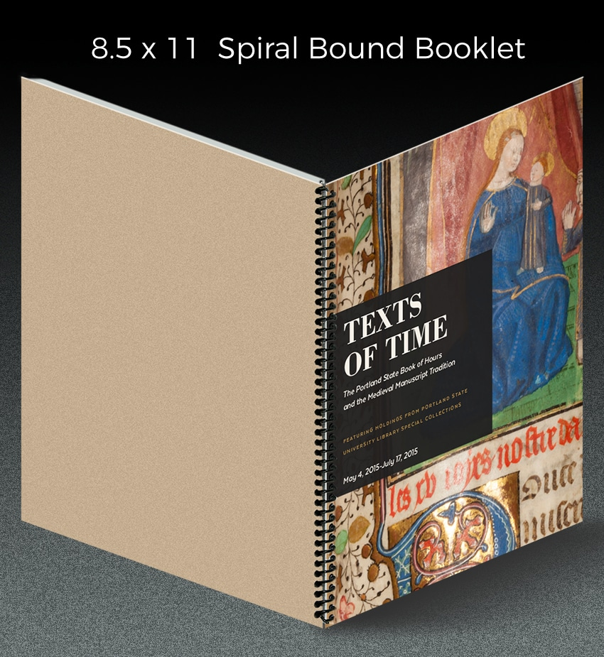 spiral bound booklet
