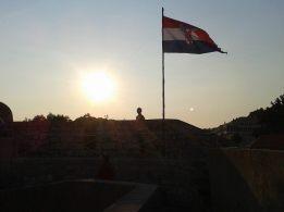 Croatian Flag in Dubrovnik
