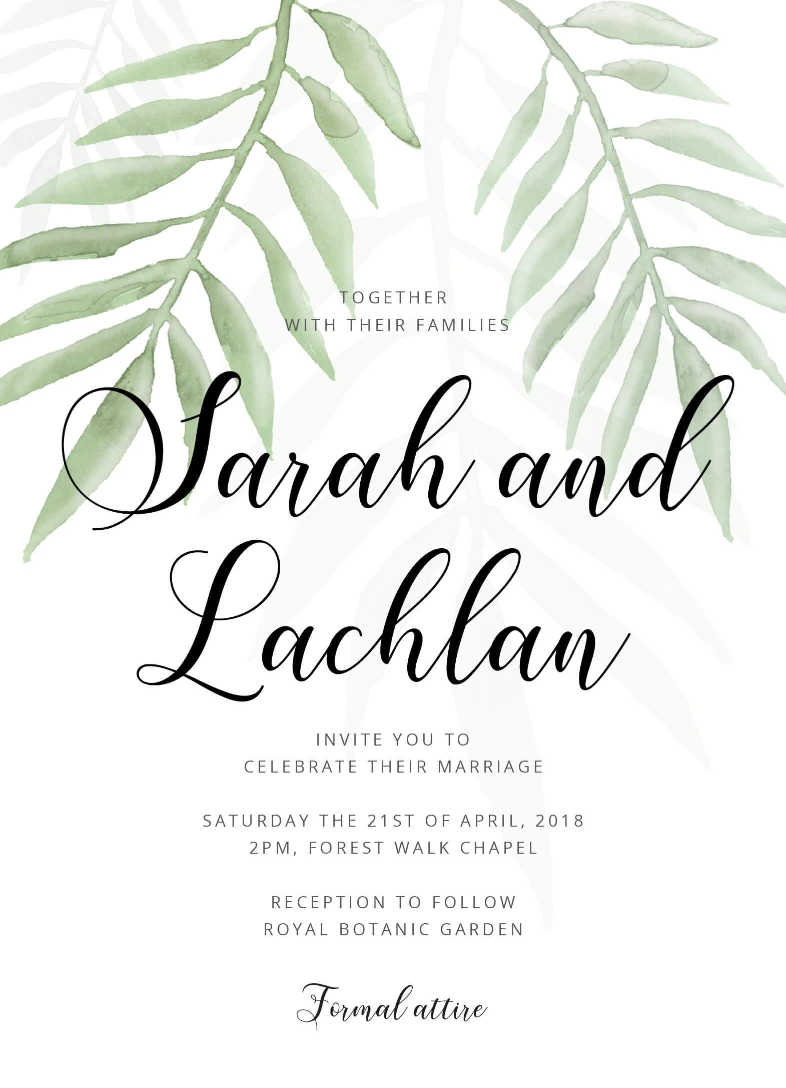 Forest Walk  Digital Printing  Wedding Invitations