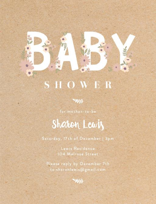 Baby Shower Invitations Customise Print Online With