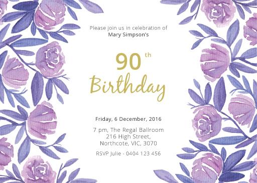 floral 50th birthday dp