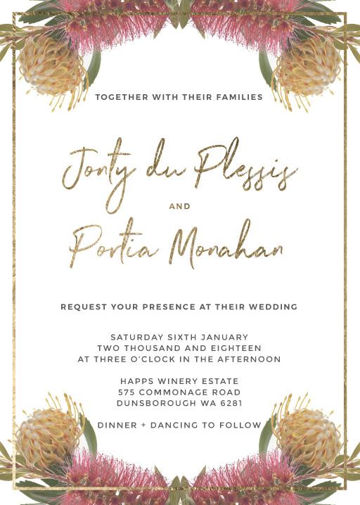 Birch Monarch Suite Invitatio