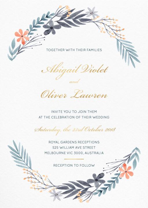 Vintage Wedding Shower Invitations