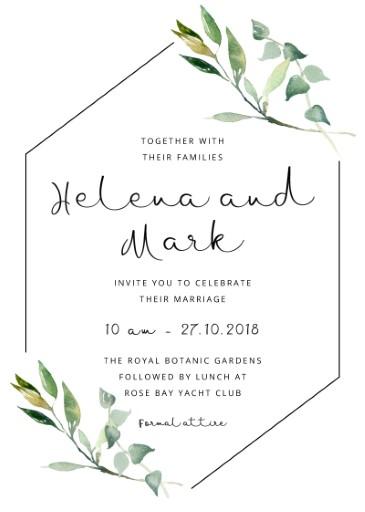 Garden Window  Digital Printing  Wedding Invitations