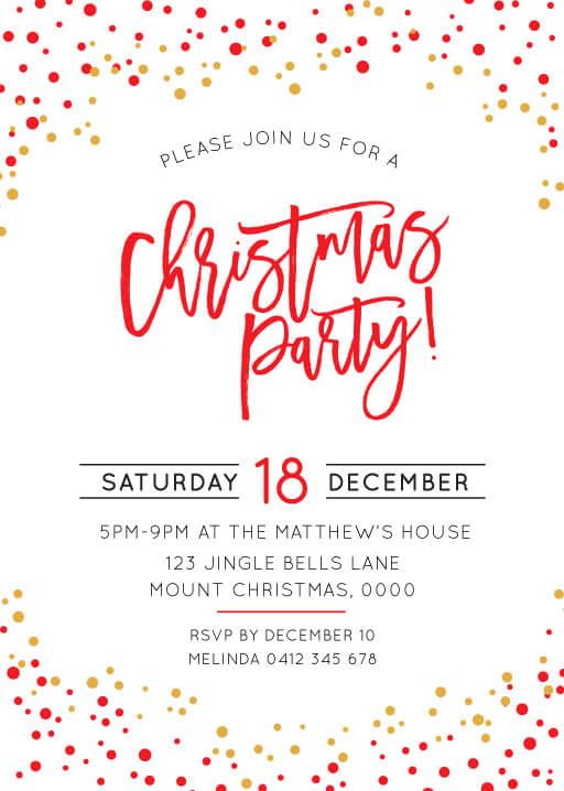 FESTIVE CHRISTMAS FS Christmas Party Invitations