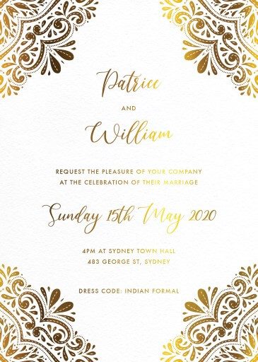 Wedding Invitations Indian
