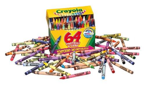 Crayola - Juego de ceras de colores (64 unidades) | PaperMania.es