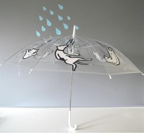 paraguas decorados con marcadores permanentes Sharpie