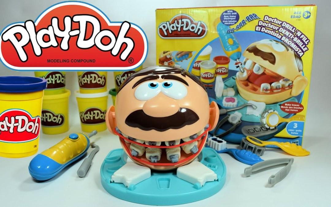 Play-Doh Dentista bromista – Manualidades con plastilina