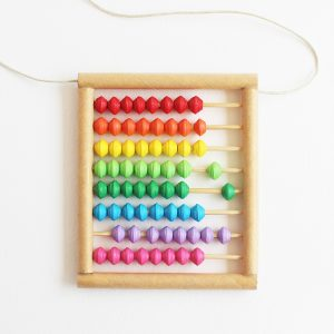 big rainbow abacus necklace - math teacher gift