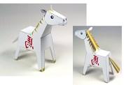 Papercraft del caballo símbolo de horóscopo chino del 2014. Manualidades a Raudales.
