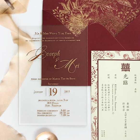 Acrylic Wedding Card Malaysia