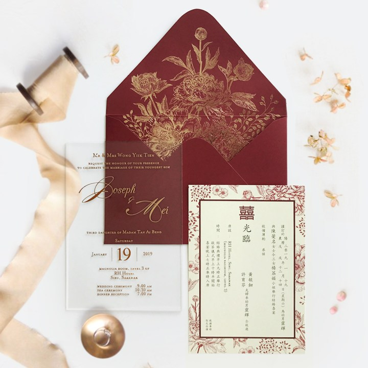 STAR OF THE MONTH (CUSTOM WEDDING INVITATIONS): EXQUISITE BOUQUET 4