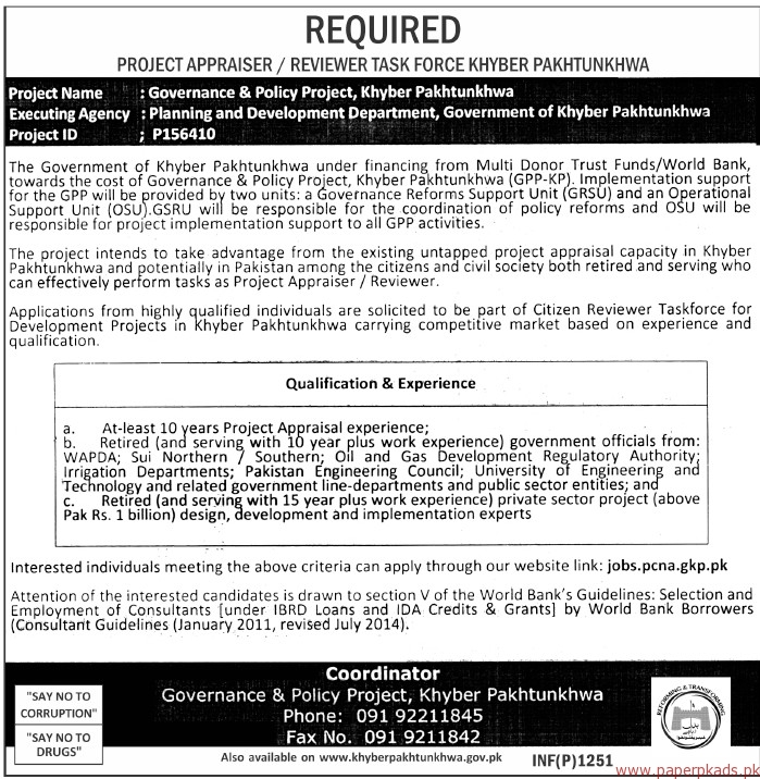 Jobs In Health Department Govt Of Khyber Pakhtunkhwa 13