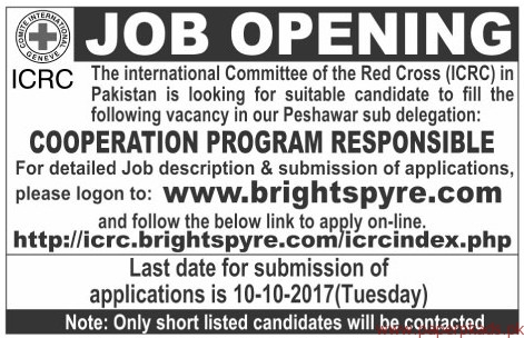 The International Committee of the Red Cross ICRC Jobs 2017